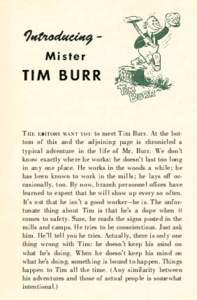 1��Mister  TIM BURR T HE