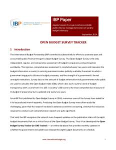 Budget Transparency and Financial Markets