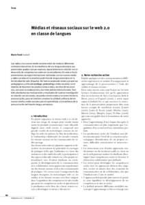 Tema  Médias et réseaux sociaux sur le web 2.0 en classe de langues  Mario Tomé   León E