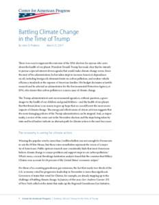 Battling Climate Change in the Time of Trump By John D. Podesta March 21, 2017