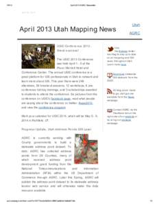April 2013 AGRC NewsletterApril 29, 2013