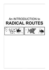 An INTRODUCTION to  RADICAL ROUTES 1