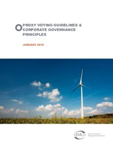 PROXY VOTING GUIDELINES & CORPORATE GOVERNANCE PRINCIPLES JANUARY 2018  PROXY VOTING GUIDELINES