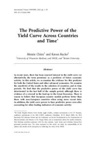 International Finance 9999:9999, 2015: pp. 1–28 DOI: infiThe Predictive Power of the Yield Curve Across Countries and Time