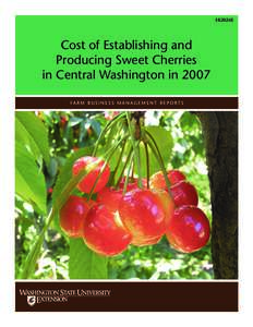 COST OF ESTABLISHING AND PRODUCING SWEET