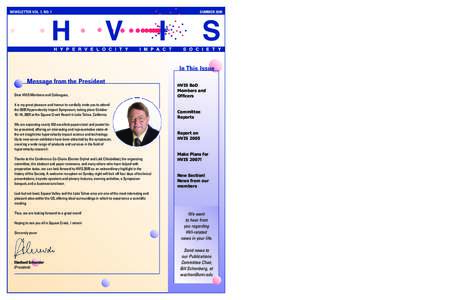 HVIS Newsletter, Vol 7 No 1