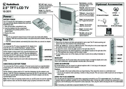 """2.5"""" TFT LCD TVRod Antenna — provides adequate reception in most metropolitan areas"""