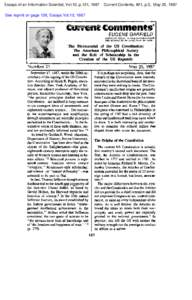Essays of an Information Scientist, Vol:10, p.131, 1987  Current Contents, #21, p.3, May 25, 1987 See reprint on page 136, Essays Vol:10, 1987