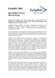 Spreadsheet / TED / École Normale Supérieure de Cachan