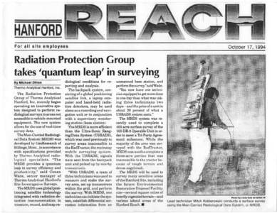 HANFORD For all site employees October 17, 1994  Radiation Protection Group