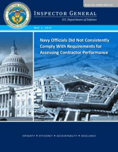 Report No. DODIGI nspec tor Ge ne ral U.S. Department of Defense