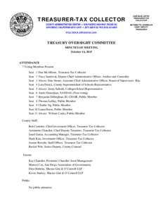 TREASURER-TAX COLLECTOR COUNTY ADMINISTRATION CENTER • 1600 PACIFIC HIGHWAY, ROOM 162 SAN DIEGO, CALIFORNIA • (FAXDAN McALLISTER TREASURER-TAX