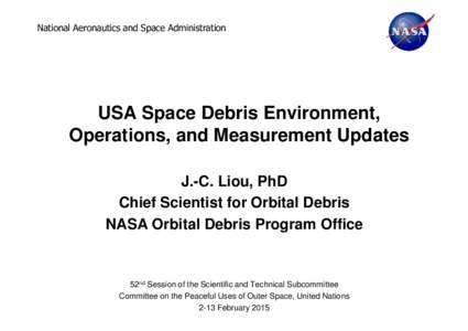 02a - US - SlidesUS Space Debris Presentation to STSC