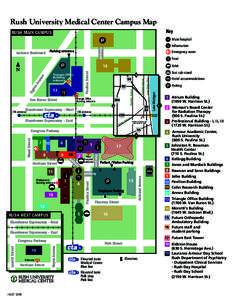 rush university campus map Rush University Medical Center Campus Map Key Rush Main Campus H
