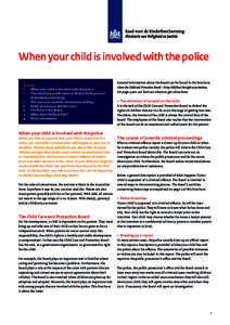 When your child is involved with the police Content 1 > When your child is involved with the police 1 > The Child Care and Protection Board (De Raad voor de Kinderbescherming) 1 > The course in juvenile criminal proc