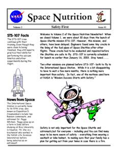 Space Nutrition Volume 2 STS-1 07 FFacts acts