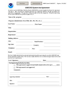 Print Form  Submit by Email OMB Control #
