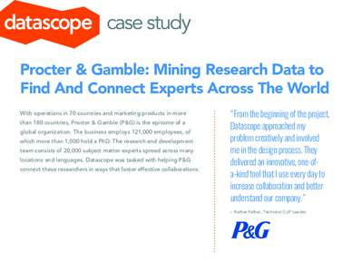 case study of proctor gamble essay