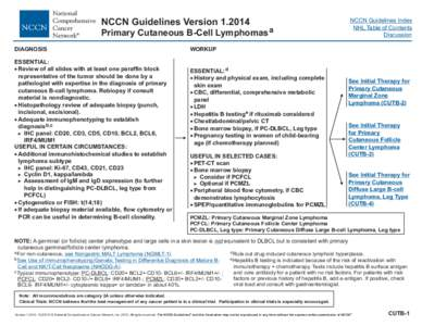 clinical practice guidelines in oncology