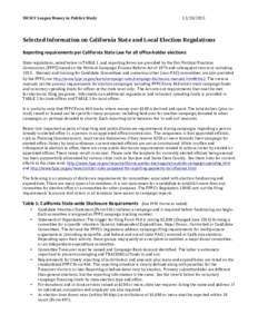 SWSCV League Money in Politics Study