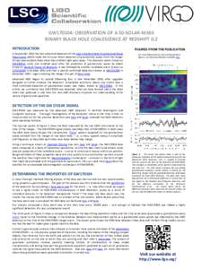 GW170104: OBSERVATION OF A 50-SOLAR-MASS BINARY BLACK HOLE COALESCENCE AT REDSHIFT 0.2 INTRODUCTION In September 2015 the twin advanced detectors of the Laser Interferometer Gravitational-Wave Observatory (LIGO) made the