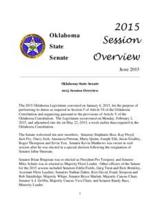 2015 Session Oklahoma State