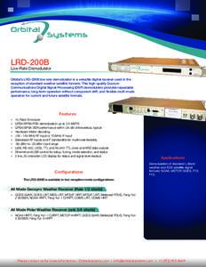 LRD-200B Demod Data Sheet vB.03