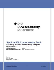 Dell precision idmarch document search engine for Voluntary product accessibility template section 508