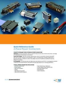 TE Connectivity  2-Piece Power Connectors Quick Reference Guide