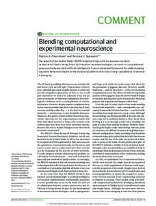 Blending computational and experimental neuroscience