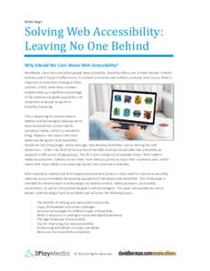 Solving Web Accessibility: Leaving No One Behind