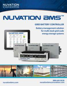 GRID BATTERY CONTROLLER Battery management solution for multi-stack grid-scale energy storage systems  nuvationbms.com