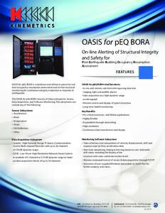 OASIS for pEQ BORA On-line Alerting of Structural Integrity and Safety for Post-Earthquake Building Occupancy Resumption Assessment