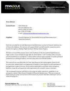 Press Release Contact Name: Headline:  Allen Robinson