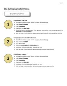 Page 51  Step-by-Step Application Process Complete Important Forms  1