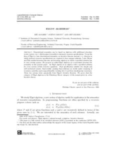 Logical Methods in Computer Science Vol. 2 (5:, pp. 1–31 www.lmcs-online.org Submitted Published