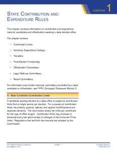State Contribution and Expenditure Rules chapter  1