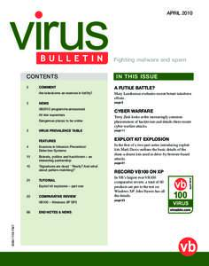 APRILFighting malware and spam CONTENTS  3
