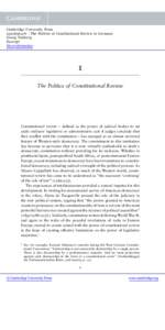 Cambridge University Press[removed]The Politics of Constitutional Review in Germany Georg Vanberg Excerpt More information