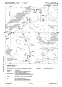 STANDARD ARRIVAL CHART INSTRUMENT (STAR) - ICAO RNAV (GNSS) STAR RWY 12 KUUSAMO AERODROME