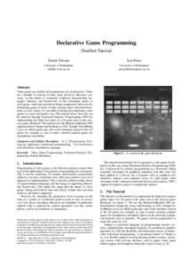 Declarative Game Programming Distilled Tutorial Henrik Nilsson Ivan Perez