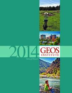 2014 Annual Report 2  Geos Institute