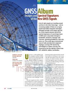 """GNSS Album Images and Spectral Signatures The SRI Stanford """"Big Dish"""""""