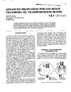 61  ADVANCED TRANSPORT:  PROPUI ION