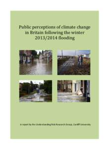 Public perception of climate change in Britain following the winterflooding