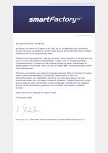 Wenn dieser Newsletter nicht richtig angezeigt wird, klicken Sie bitte hier.  SF NewsletterSehr geehrte Damen und Herren, der Monat Juni führte mich wieder in die USA, wo ich am Manufacturing Leadership