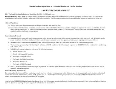 south carolina department of probation parole and pardon services application