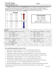The Ph Scale Worksheet Key - ph scale worksheet answer key and the ...