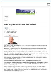 (/)  Login BLMEacquiresRenaissanceAssetFinance Share