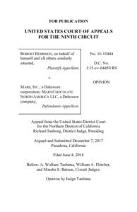 FOR PUBLICATION  UNITED STATES COURT OF APPEALS FOR THE NINTH CIRCUIT  ROBERT HODSDON, on behalf of